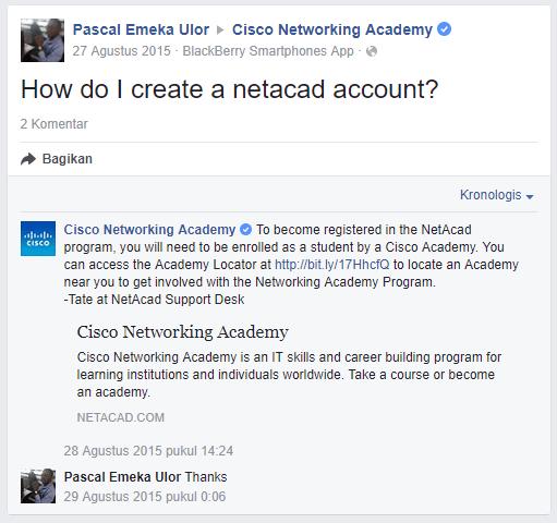 How to register netacad account